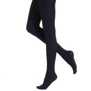 Hue super opaque Navy tights non control top
